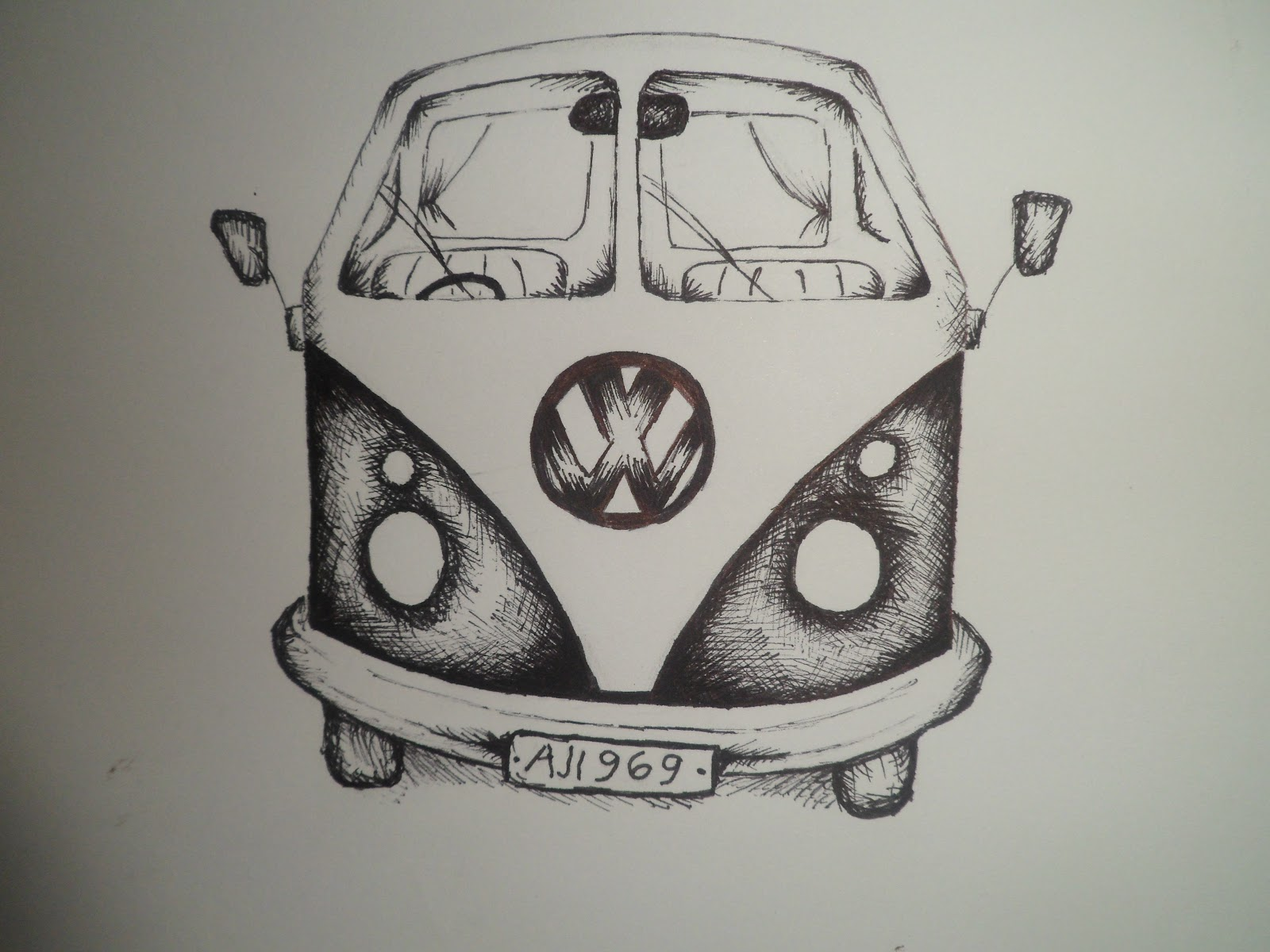 Drawn vans realistic Hub of Camper with of