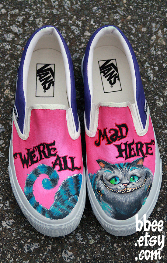 Drawn vans rose Zapatillas en gato del Drawn