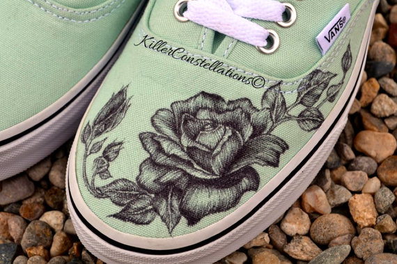 Drawn vans rose Like Rose Sharpie Drawn Design