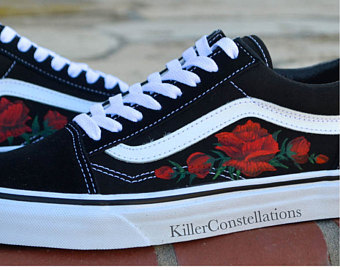 Drawn vans rose Custom Drawn Hand Custom Sharpie