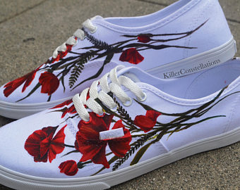 Drawn vans rose Hand Sharpie Drawn Hand Rose