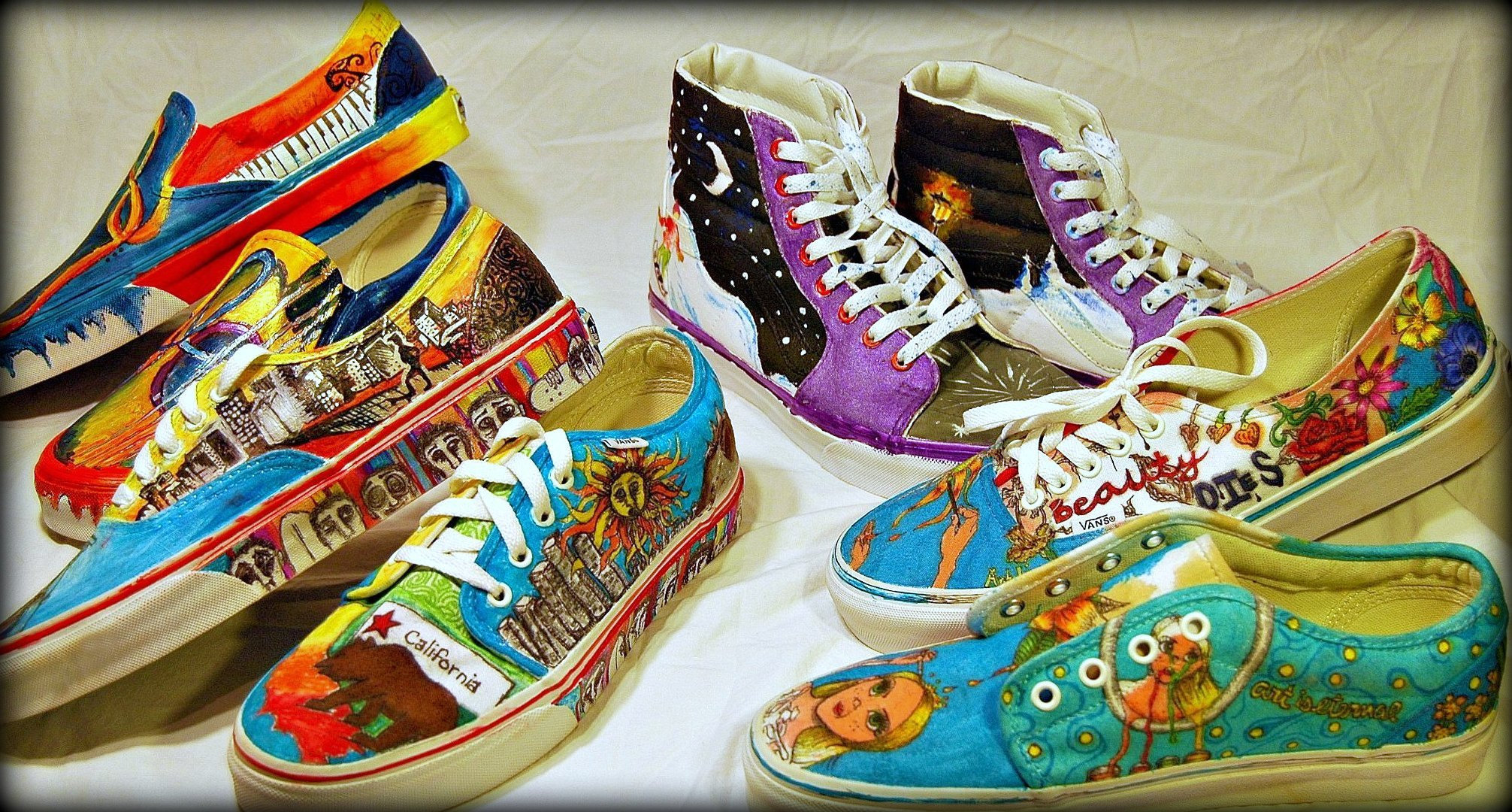Drawn vans school shoe 000 Art Big Needs Program