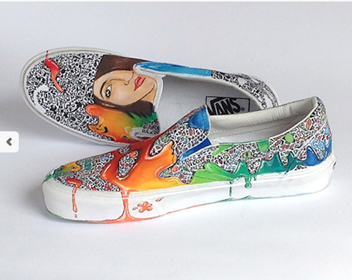 Drawn vans school shoe Culture Painted contest Shoes Custom