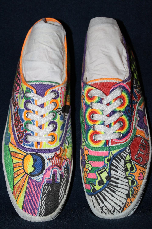 Drawn vans sharpie art Search sharpie shoes Sharpie Google