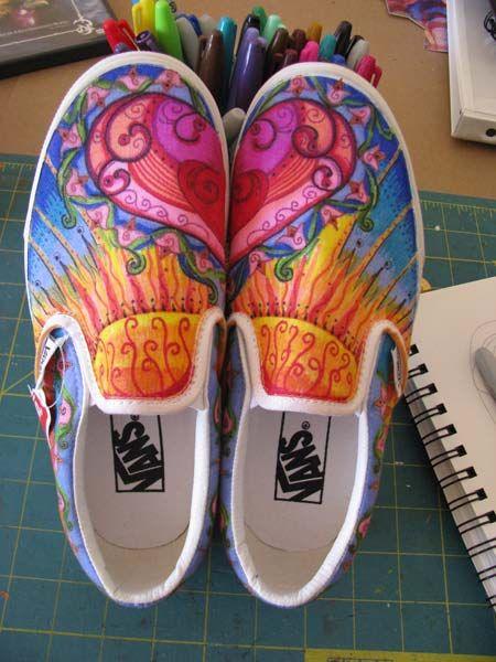 Drawn vans sharpie art Ideas 25+ Sharpie shoes Pinterest