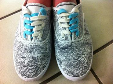 Drawn shoe sharpie For Make Project Kids Art