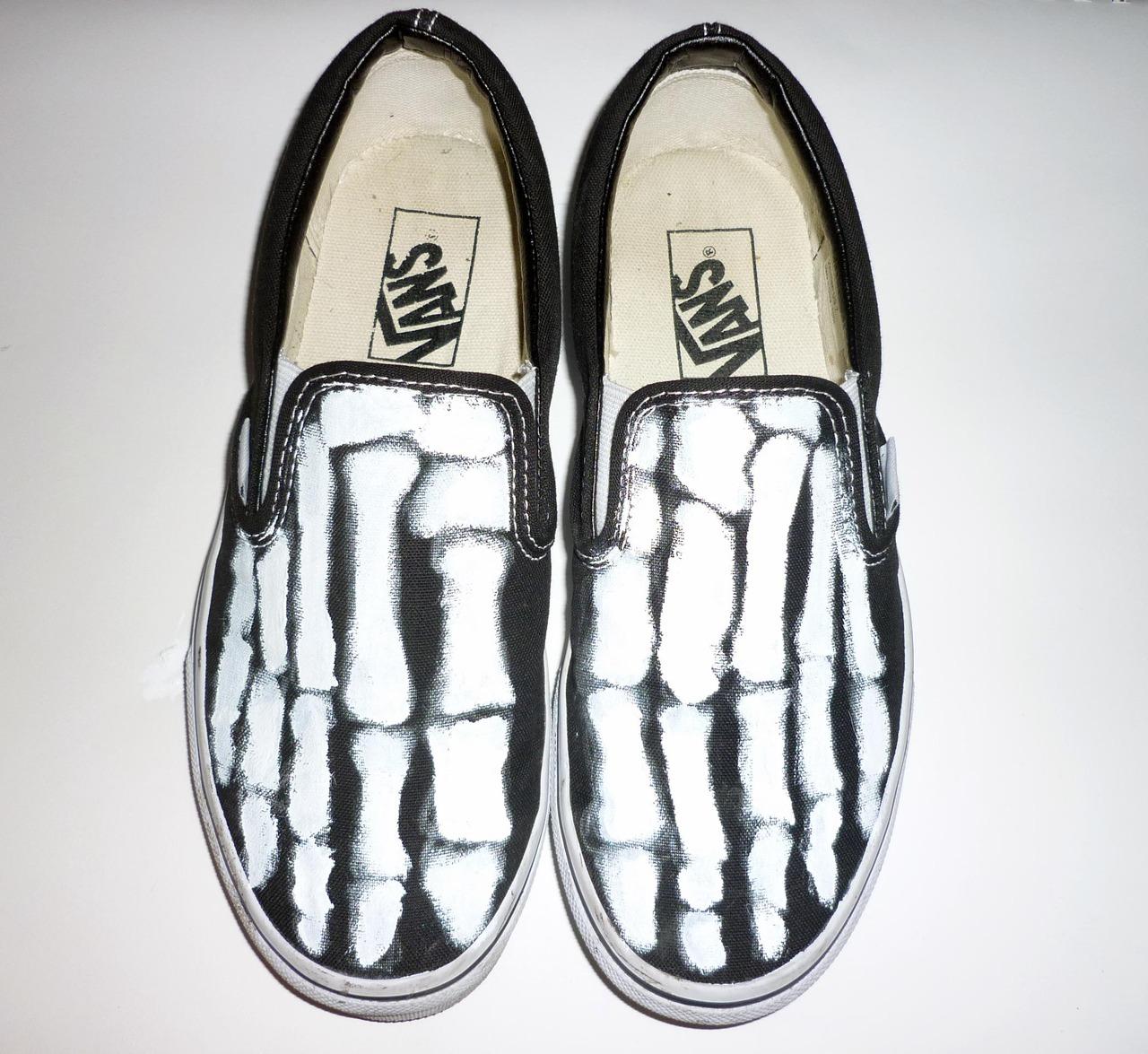Drawn vans skeleton Vans Slip DIY DIY Ons