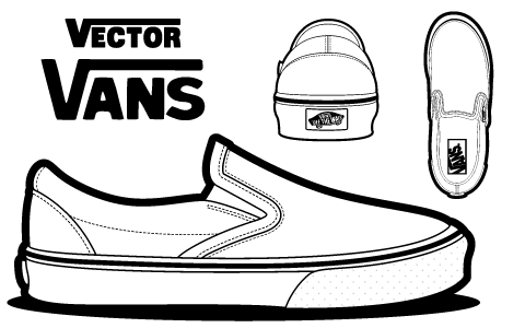 Drawn vans sketch And Canvases vans vector More