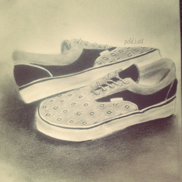 Drawn vans sketch Vans draw drawing New #artwork