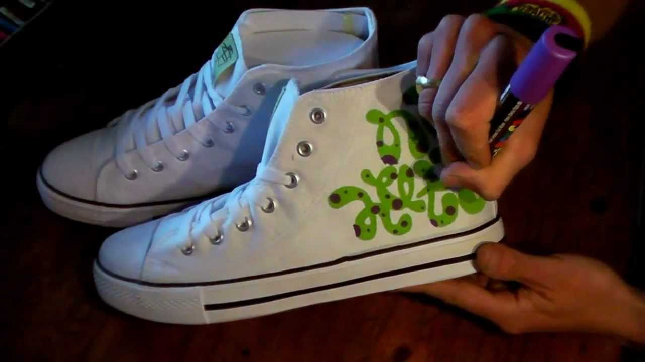 Drawn converse canvas shoe Hop SNEAKERS hip GRAFFITI style
