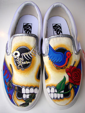 Drawn vans spray Painting am Painted is of