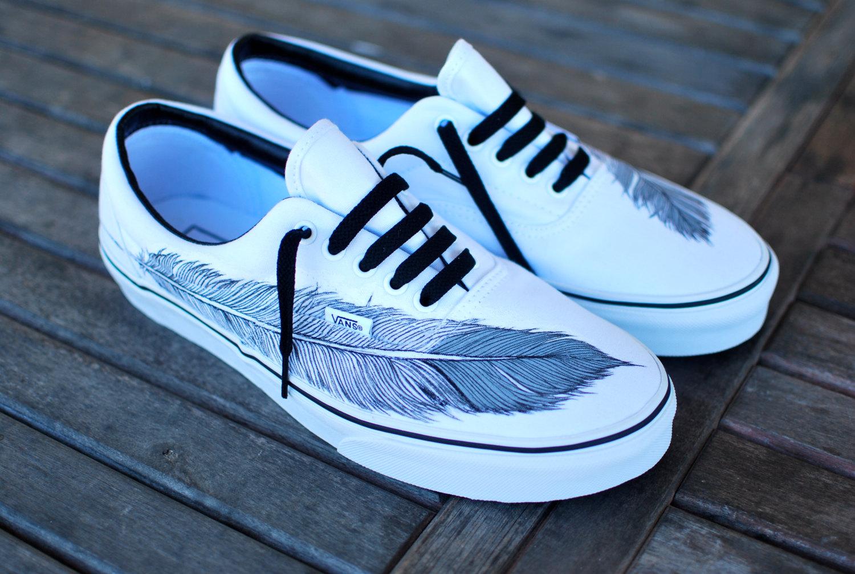Drawn shoe vans graphic Vans Era Eagle converse Hand
