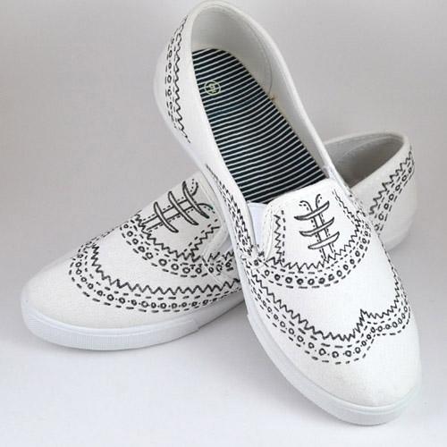 Drawn sneakers white van Sneakers oxfords drawn dreamalittlebigger Hand