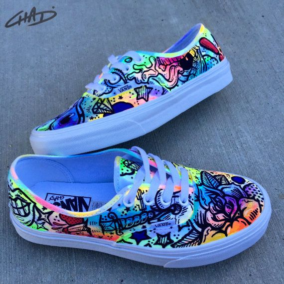 Drawn vans spray Painting 25+ Hand Authentics on