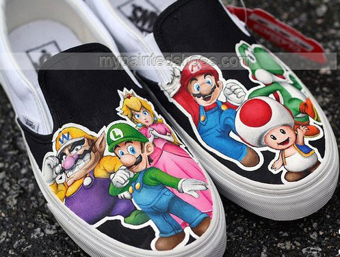 Drawn vans super mario The on vans Shoes guy
