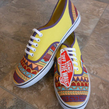 Drawn vans tribal pattern Products Shoes Best Tribal Tribal