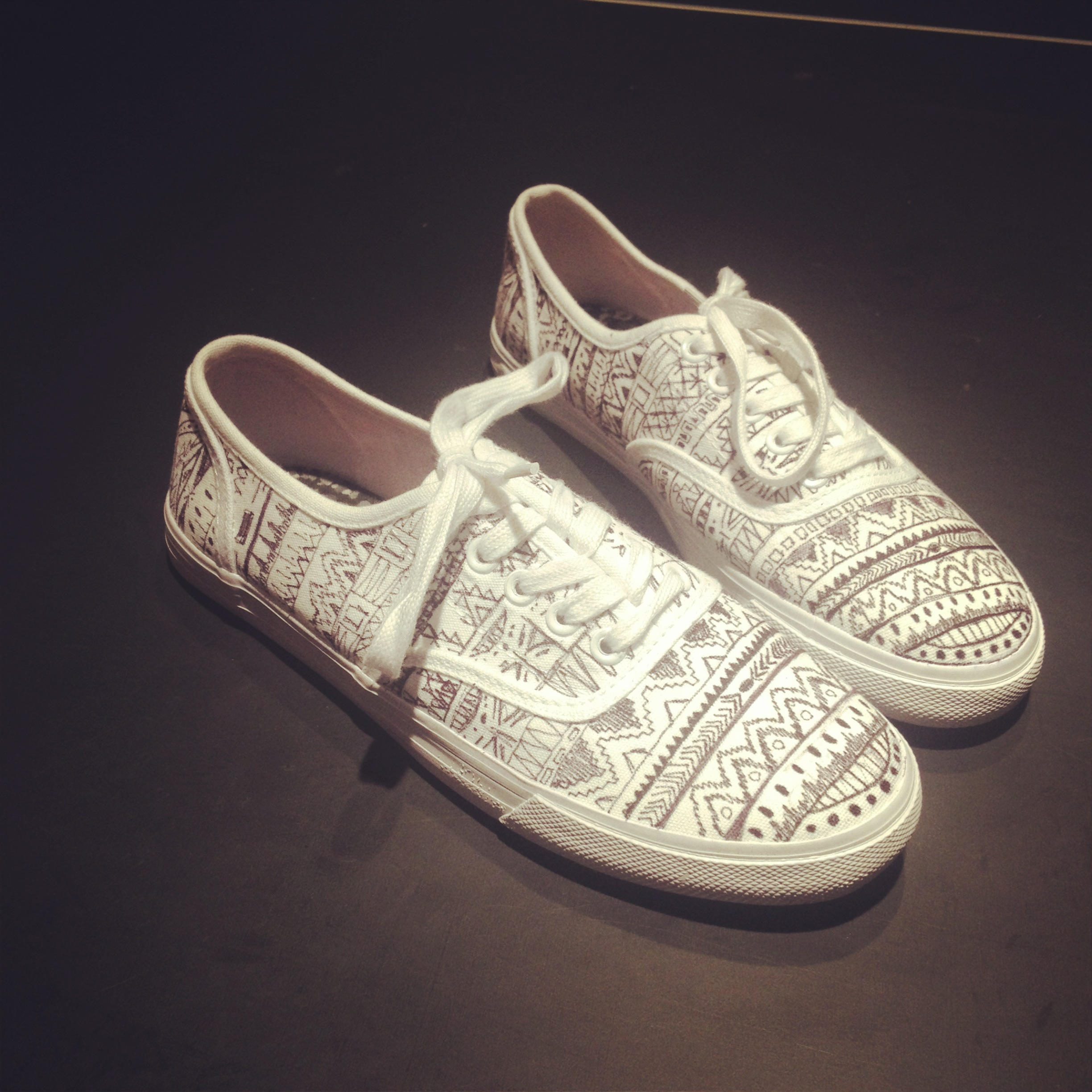 Drawn vans tribal pattern  my my all have