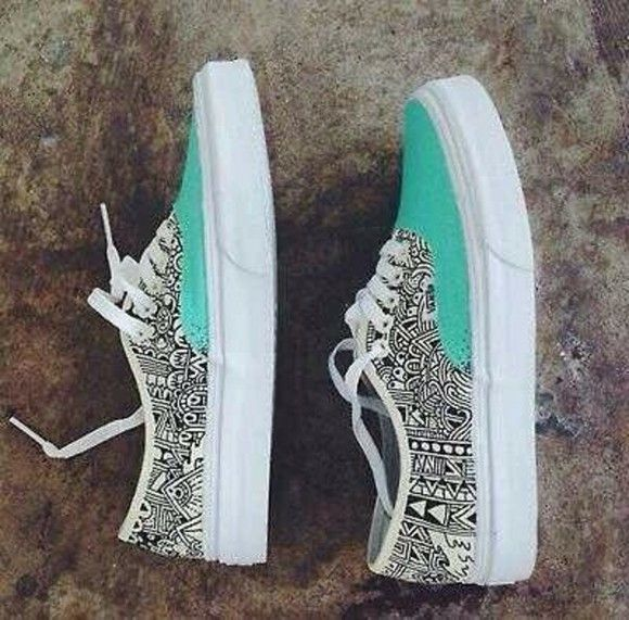 Drawn vans tribal pattern Shoes great Pinterest now and