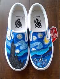 Drawn vans unique Search on white shoes handmade