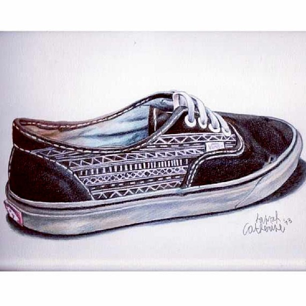 Drawn vans unique  By Art @hannahcatherine__ Drawing