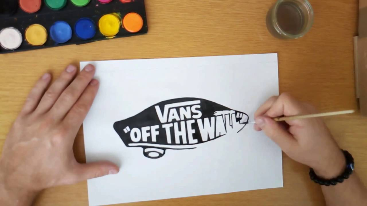 Drawn vans vans logo The YouTube wall the draw