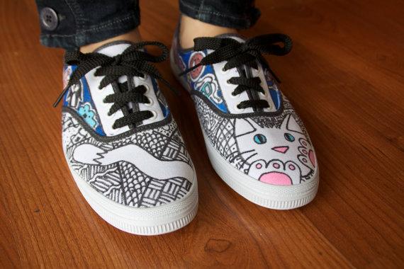 Drawn vans zentangle Shoesday: zentangles Painted Hand Mousebreath