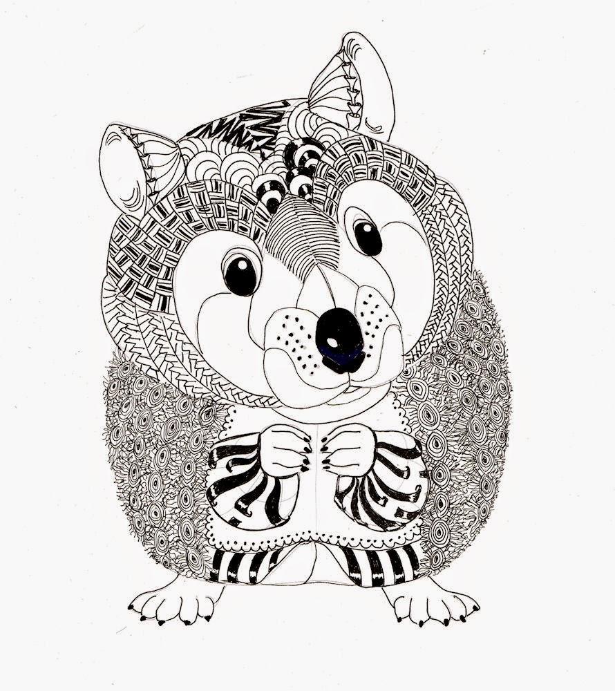 Drawn vans zentangle Efie Colouring Ben hamster Zentangle:
