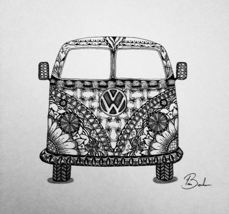 Drawn vans zentangle Zentangle best campervan VW about