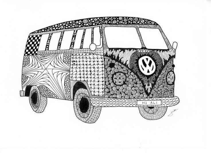 Drawn vans zentangle VW best Zentangle 4 about