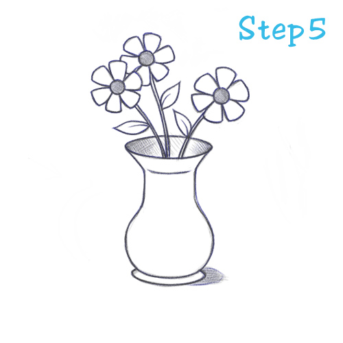 Drawn vase top view (Beginning) How To 5 Vase