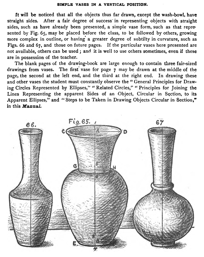 Drawn vase Following 3 Vases with and