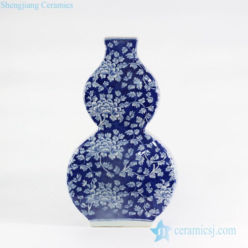 Drawn vase blue Flower Ltd And Ceramic White