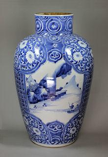 Drawn vase blue Blue Kangxi blue 1722) Kangxi