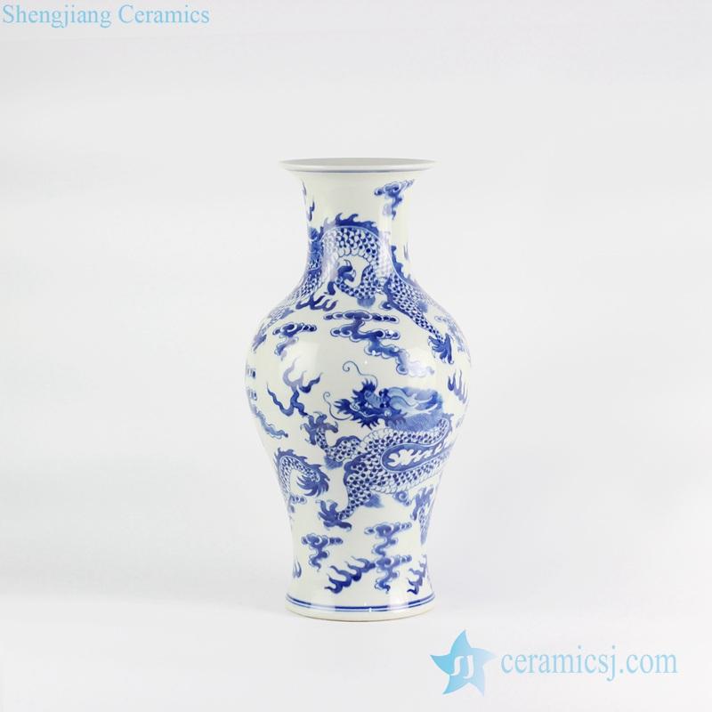 Drawn vase blue Value tail High fish white