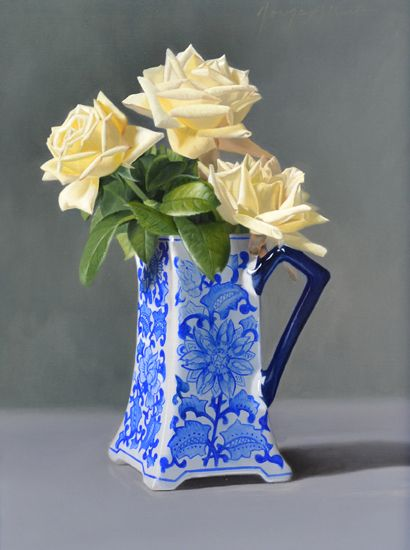 Drawn vase blue Alberto Pinterest images roses about