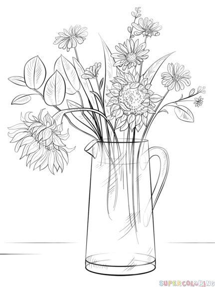 Drawn rose drowing Pinterest Bouquet ideas a of