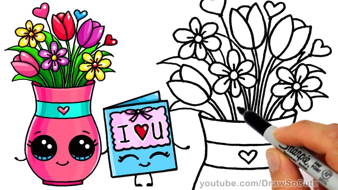 Drawn vase cartoon Step step Vase Draw to