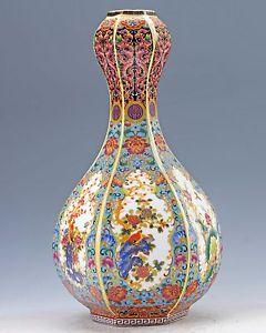 Drawn vase chinese Chinese is Bird Bird Flower