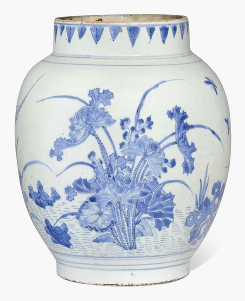 Drawn vase chinese 10⅝ blue high Christie's Chinese