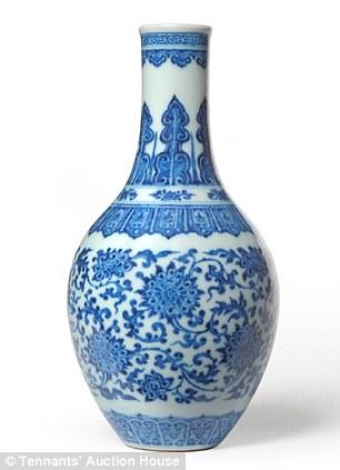 Drawn vase chinese Telephone vase took for estimated