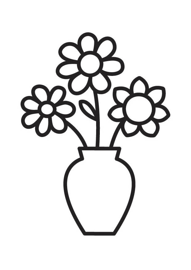 Drawn vase clipart Free Pot Art Coloring Pages
