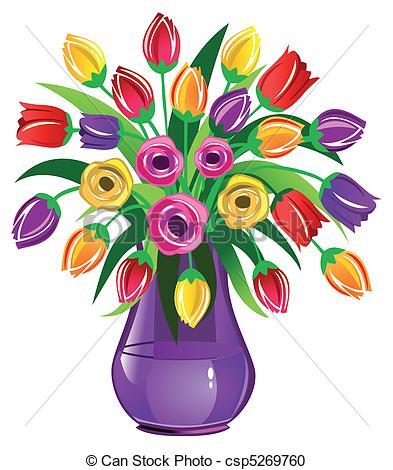Drawn vase clipart Of Vase csp5269760 Vector Spring