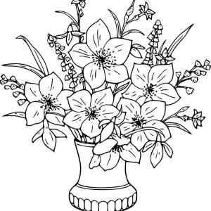 Drawn vase color Coloring Horse Flower Vase Pages