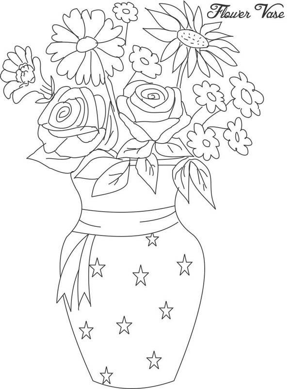 Drawn vase color Color Vase Page in Flower