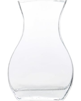 Drawn vase curved Vase Glass Inch Hosley Curved