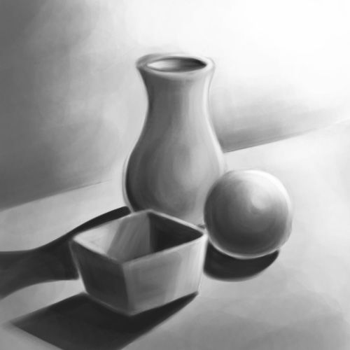Drawn vase curved About and to Paint this