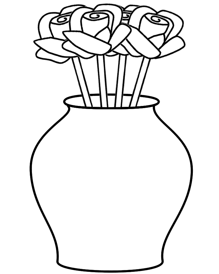 Drawn vase curved Curved Roses Page (Plants) Vase