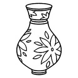 Drawn vase curved Curved Page Coloring print Vase