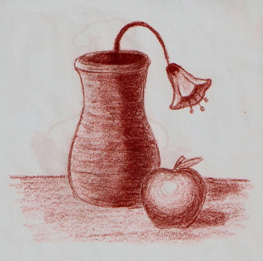 Drawn vase dead nature Pterodactilo on DeviantArt  by