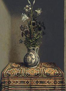 Drawn vase dead nature Of filled Bornemisza Flowers religious